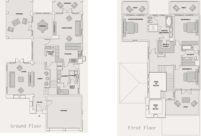 Saadiyat Beach Villas Floor Plan Meditteranean Villa 3 Bedroom Villa Standard 4899 Sqft