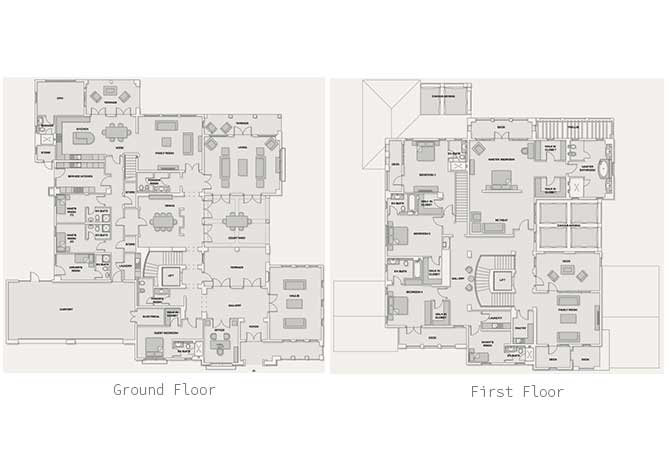 Saadiyat Beach Villas Floor Plan Meditteranean Villa 5 Bedroom Villa Premium 12166 Sqft