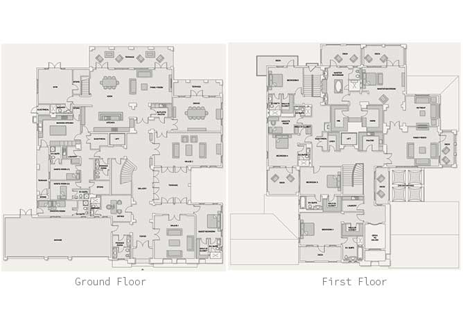 Saadiyat Beach Villas Floor Plan Meditteranean Villa 6 Bedroom Villa Premium 15209 Sqft