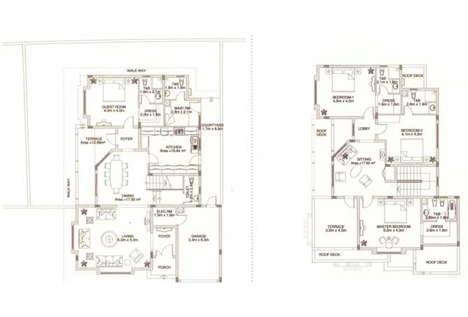 Sas Al Nakhl Village Floor Plan 4 Bedroom Villa Type b2