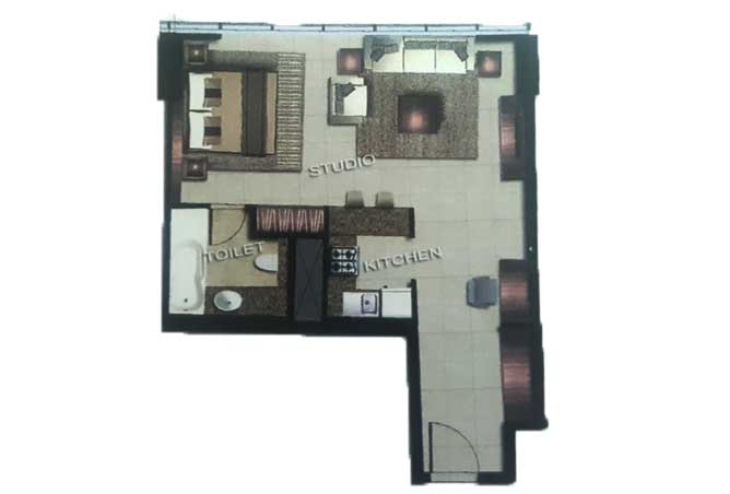 The Arc Floor Plan Studio Apartment