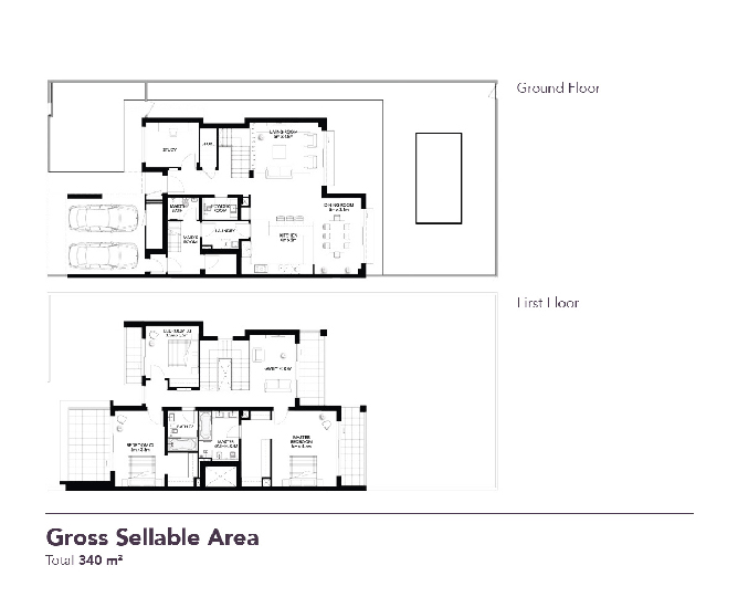 Yas Acres Floor Plan 3 Bedroom Duplex Type X
