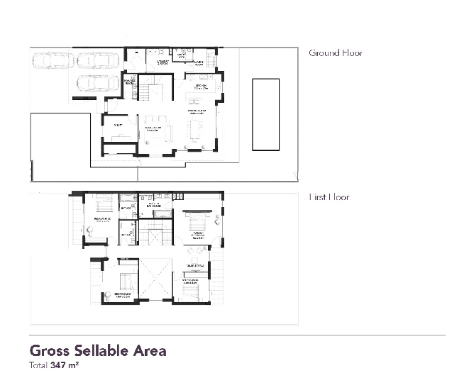 Yas Acres Floor Plan 4 Bedroom Duplex Type X