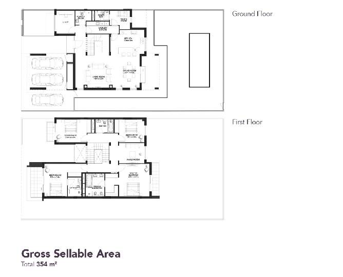 Yas Acres Floor Plan 4 Bedroom Duplex Type Y