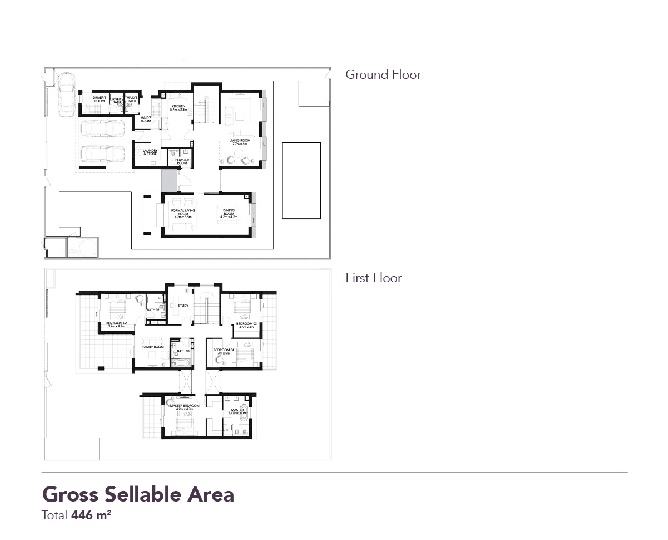 Yas Acres Floor Plan 4 Bedroom Villa Type 2r b
