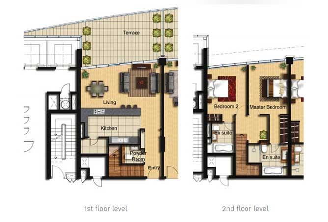 Al Barza Floor Plan 2 Bedroom Apartment Type 2e 1518 Sqft