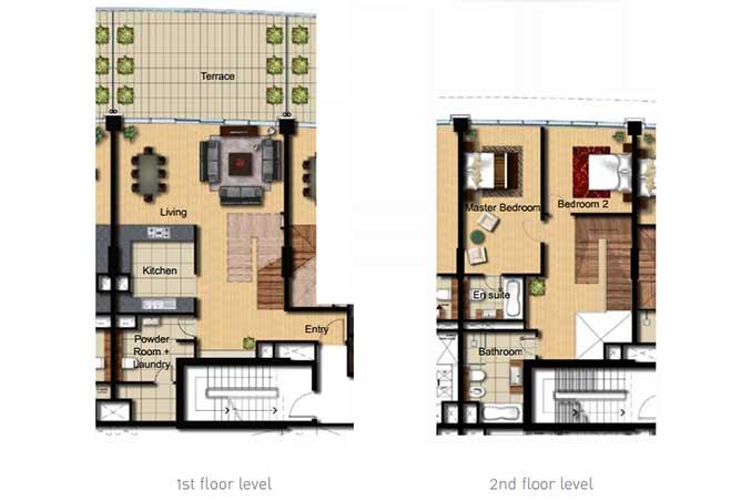 Al Barza Floor Plan 2 Bedroom Apartment Type 2g 1755 Sqft