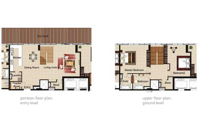 Al Naseem Floor Plan Building B 2 Bedroom Waterside Duplex Apartment Type 2a 2357 Sqft
