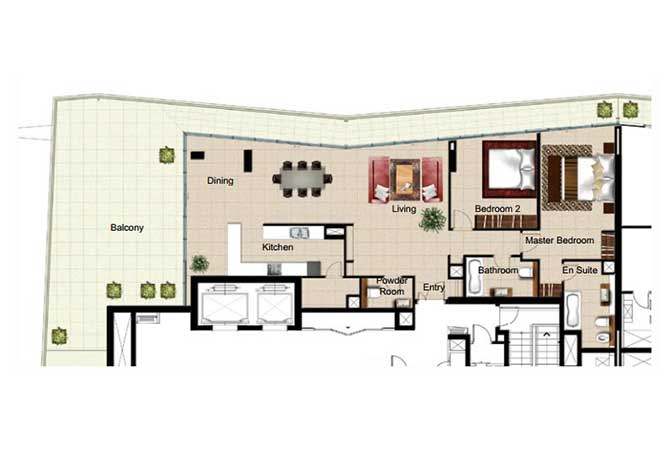 Al Naseem Floor Plan Building c 2 Bedroom Apartment Type 2u 2486 Sqft