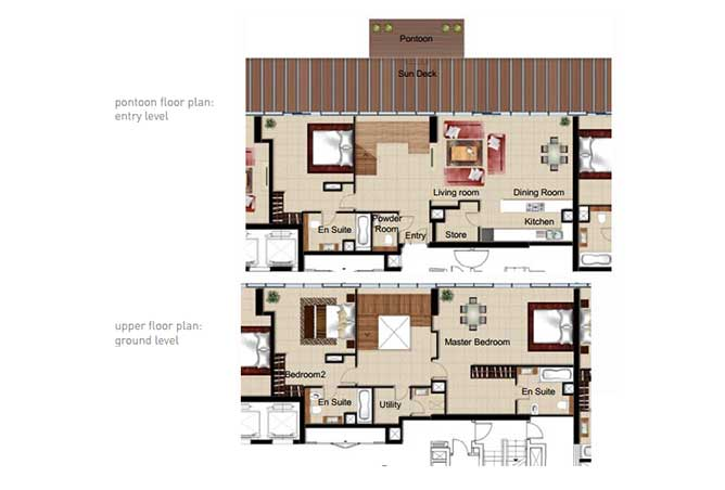 Al Naseem Floor Plan Building c 3 Bedroom Waterside Duplex Apartment Type 3f 2992 Sqft