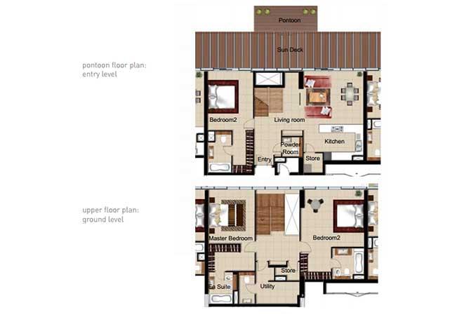 Al Naseem Floor Plan Building c 3 Bedroom Waterside Duplex Apartment Type 3g 2465 Sqft