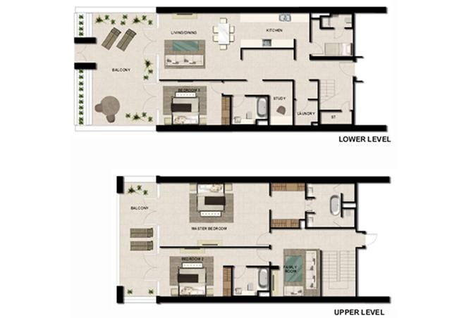 Al Zeina Abu Dhabi Floor Plan 3 Bedroom Townhouse Type th 6