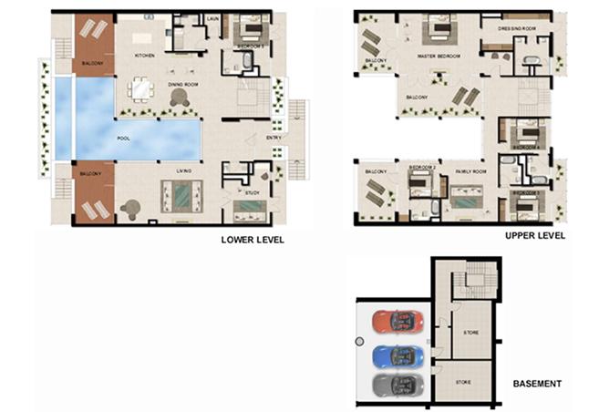 Al Zeina Abu Dhabi Floor Plan 5 Bedroom Beach Villa Type bv 5c