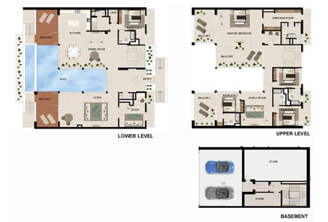 Al Zeina Abu Dhabi Floor Plan 5 Bedroom Beach Villa Type bv 5d