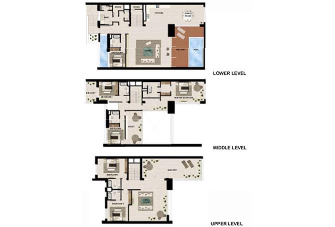 Al Zeina Abu Dhabi Floor Plan 6 Bedroom Podium Villa Type pv1 a2