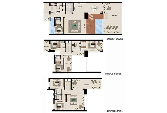 Al Zeina Abu Dhabi Floor Plan 6 Bedroom Podium Villa Type pv1 c2 level 2