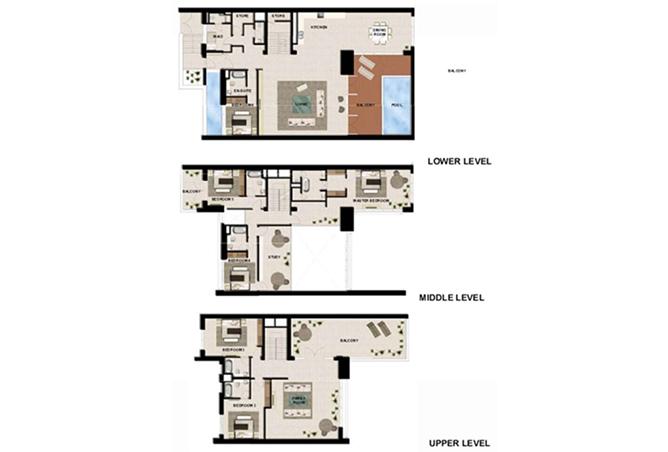 Al Zeina Abu Dhabi Floor Plan 6 Bedroom Podium Villa Type pv1 c2 level 4