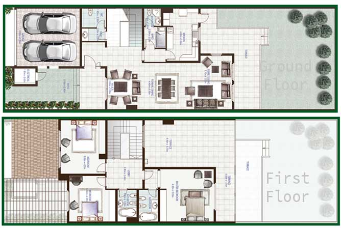Golf Gardens Floor Plan Jouri Townhouse 4 Bedroom 3380 Sqft