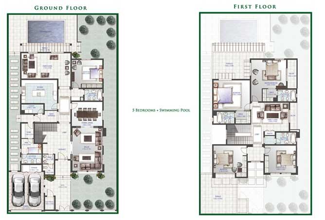 Golf Gardens Floor Plan Lailak Villa 5 Bedroom 5748 Sqft