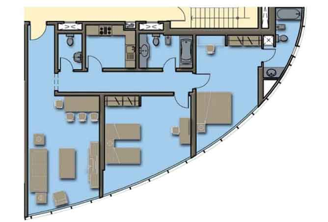 Hydra Avenue Floor Plan 2 Bedroom Apartment 1373 Sqft C4 C5 Type 4