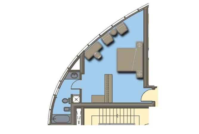 Hydra Avenue Floor Plan Studio Apartment 424 Sqft C6 C7 C8 C9 Type 1