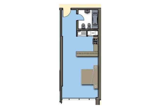 Hydra Avenue Floor Plan Studio Apartment 556 Sqft C4 C5 Type 6
