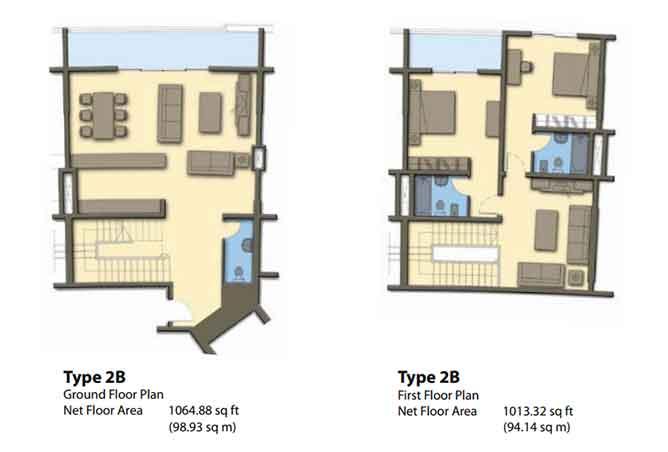 Hydra Avenue Floor Plan Townhouse 2078 Sqft C6 C7 C8 C9 Type 2b