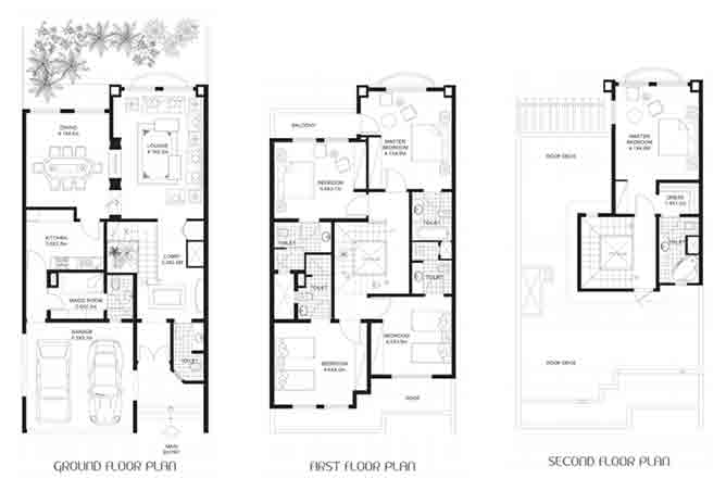 Khalidiya Village Floor Plan 4 Bedroom Villa Type a4 3498 Sqft
