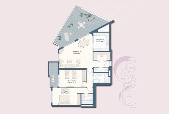 Mangrove Place Floor Plan 2 Bedroom Apartment g 1796