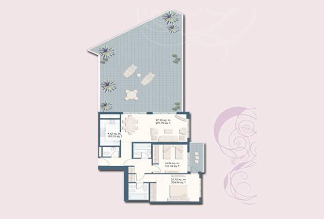 Mangrove Place Floor Plan 2 Bedroom Apartment i 1 2103