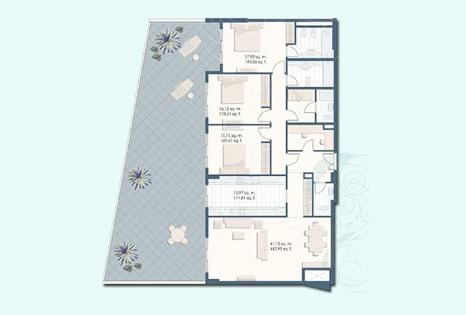 Mangrove Place Floor Plan 3 Bedroom Apartment i 3277