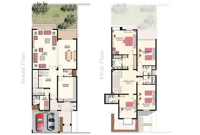 Mangrove Village Floor Plan Abu Dhabi Gate City 4 Bedroom Villa Large 3907 Sqft