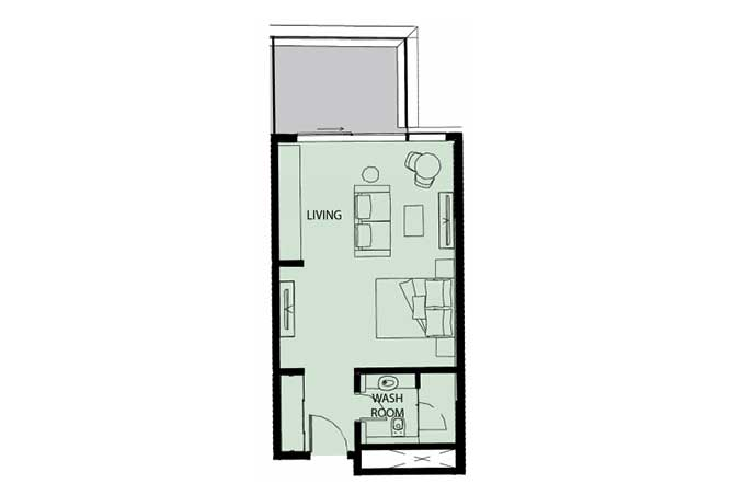 Mayan Floor Plan Studio Flat Type s5 553 Sqft 1