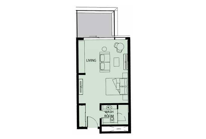 Mayan Floor Plan Studio Flat Type s5 553 Sqft 1
