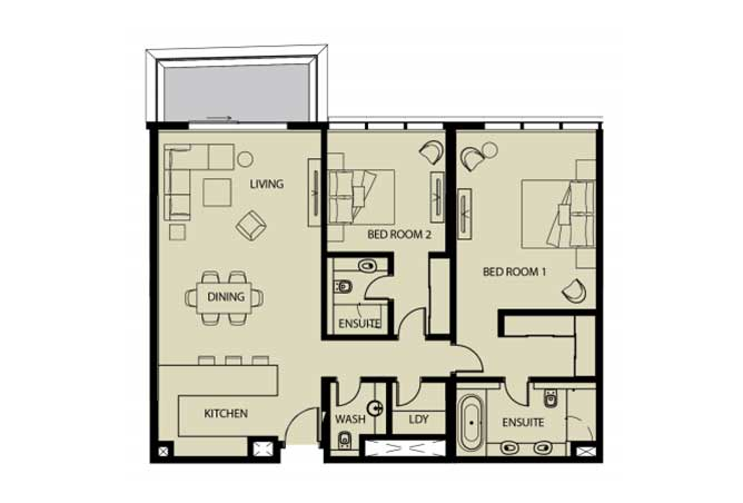 Mayan Floor Plan 2 Bedroom Apartment 2h 2 1479 Sqft