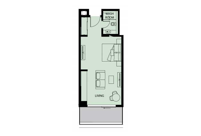 Mayan Floor Plan Studio Flat s3 532 Sqft