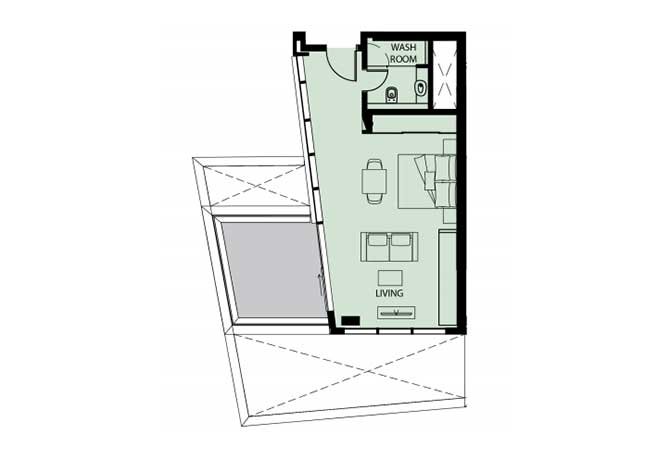 Mayan Floor Plan Studio Flat s6 626 Sqft