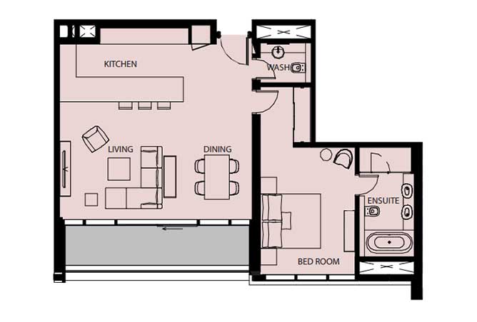 Mayan Floor Plan 1 Bedroom Flat 1n 1073 Sqft