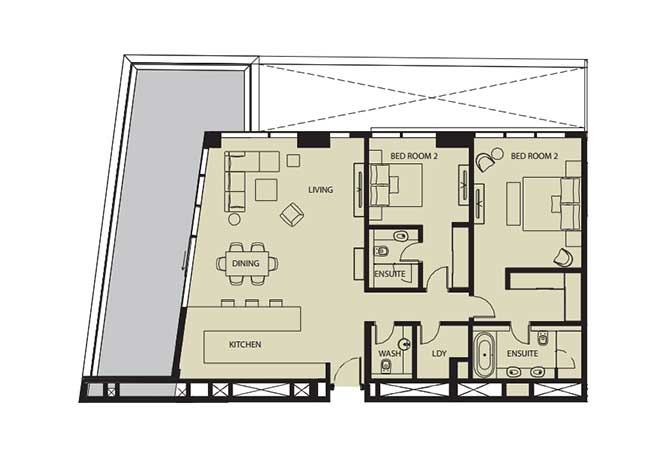 Mayan Floor Plan 2 Bedroom Flat 2i 1 1934 Sqft