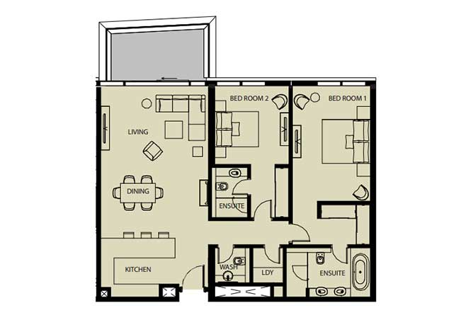 Mayan Floor Plan 2 Bedroom Flat 2i 1442 Sqft
