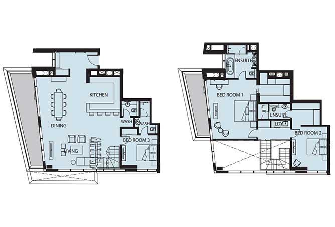 Mayan Floor Plan 3 Bedroom Flat d 3p 2 2462 Sqft