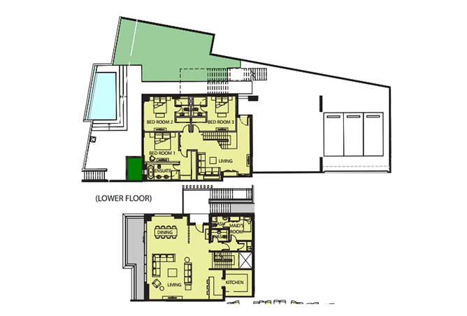 Mayan Floor Plan Beach House b1 8264 Sqft