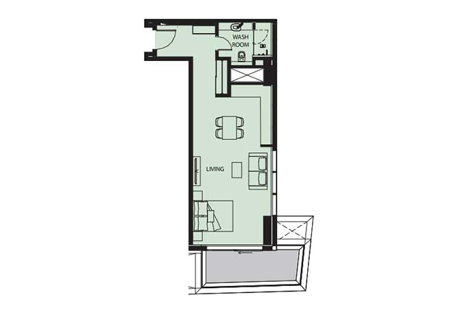 Mayan Floor Plan Studio Flat s11 2 711 Sqft