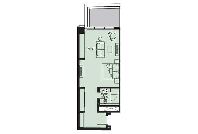Mayan Floor Plan Studio Flat s8 681 Sqft