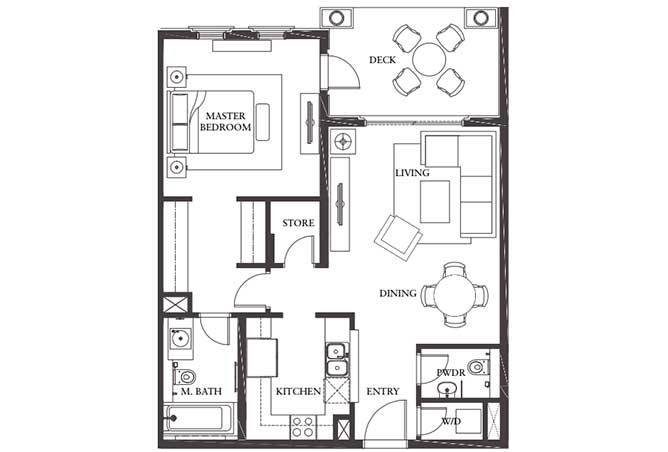 Saadiyat Beach Residences Floor Plan 1 Bedroom Apartment Type b 933 Sqft