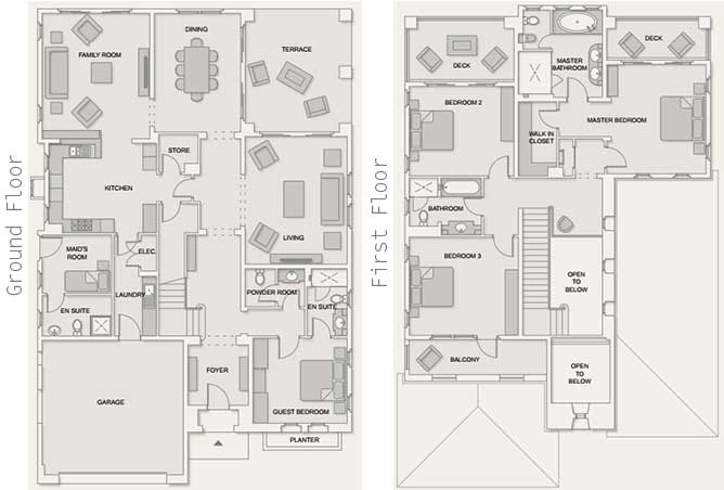 Saadiyat Beach Villas Floor Plan Arabian Villa 4 Bedroom Villa 5191 Sqft