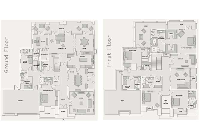 Saadiyat Beach Villas Floor Plan Contemporary Villa 5 Bedroom Villa Executive 8442 Sqft