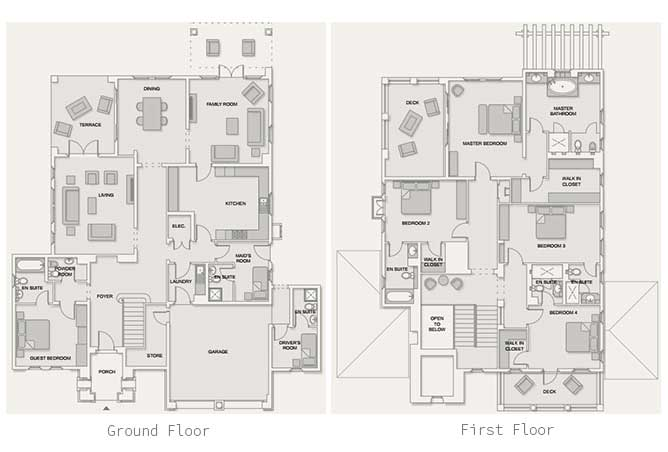 Saadiyat Beach Villas Floor Plan Meditteranean Villa 5 Bedroom Villa Standard 6117 Sqft