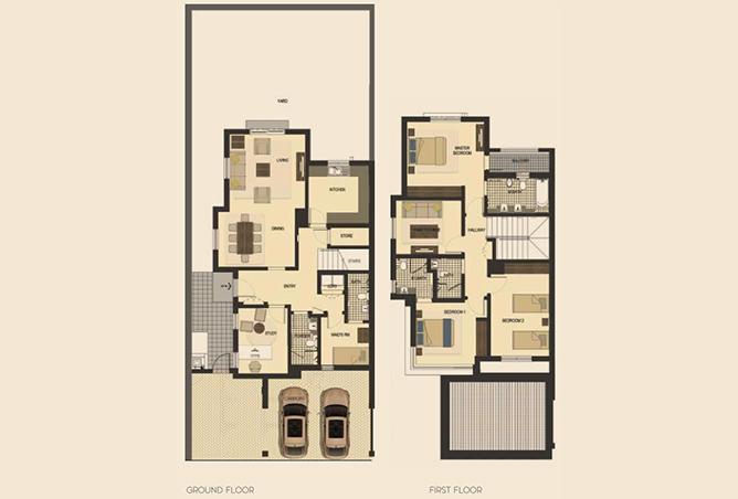 Saadiyat Lagoons Floor Plan 3 Bedroom Townhouse Type e