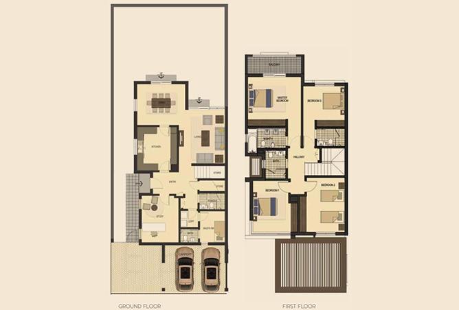 Saadiyat Lagoons Floor Plan 4 Bedroom Townhouse Type e